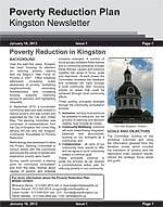 This is an image of the Poverty Reduction Newsletter