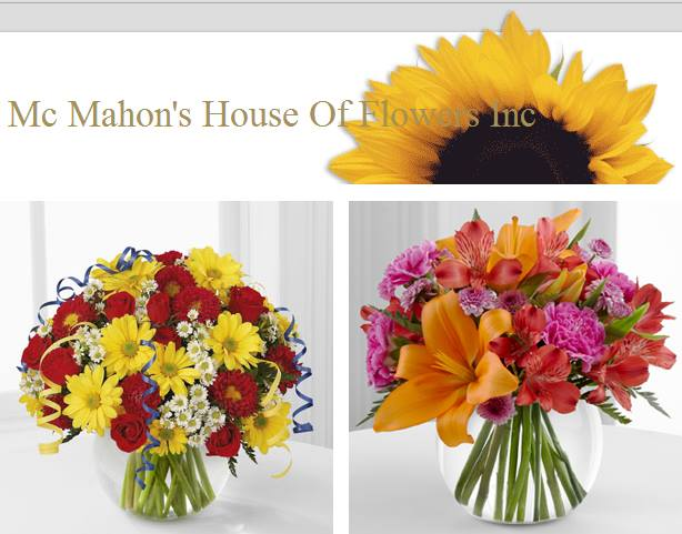 Floral Arangements Donated by McMahons House of Flowers