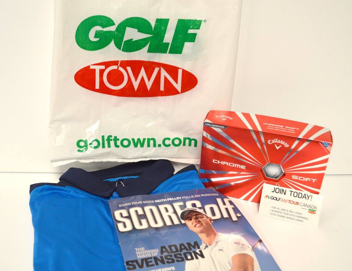 Golf Accessories Donated by Golf Town