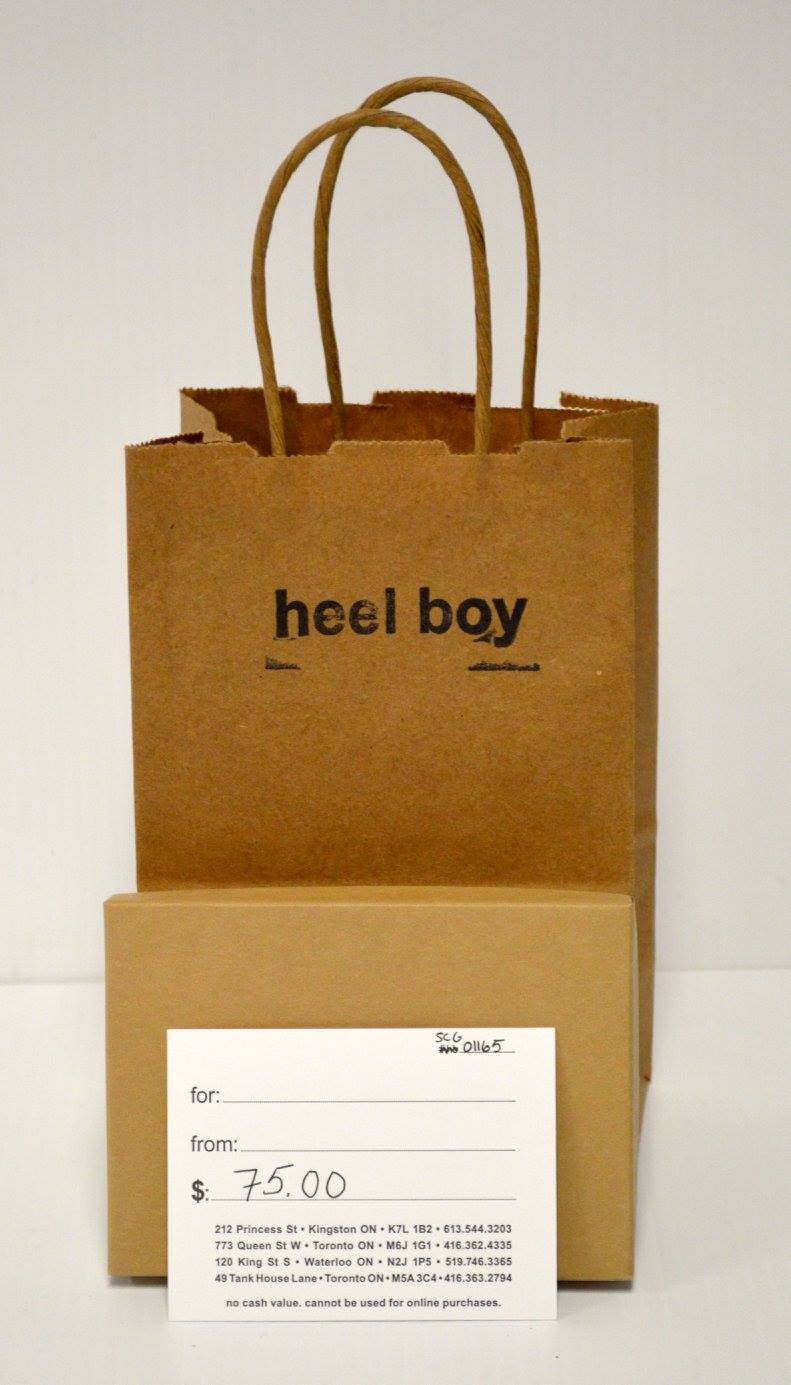 $75 Gift Certificate Donated by Heel Boy