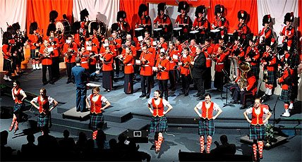 Photo of the Concert For Scarlets performers